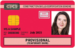 Red Provisional Card