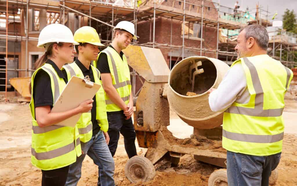 Construction students on a site visit